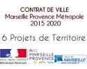 Les six Projets de Territoire de Marseille